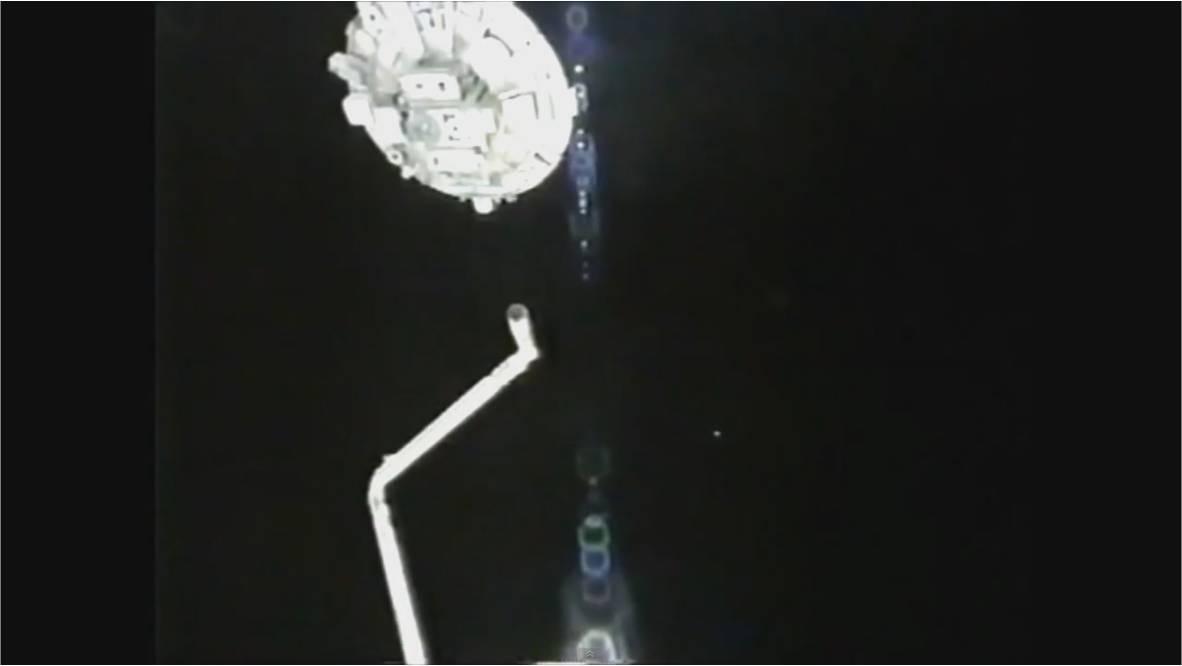 Un OVNI se cuela en plena transmision de la NASA desde la Estación Espacial Iss